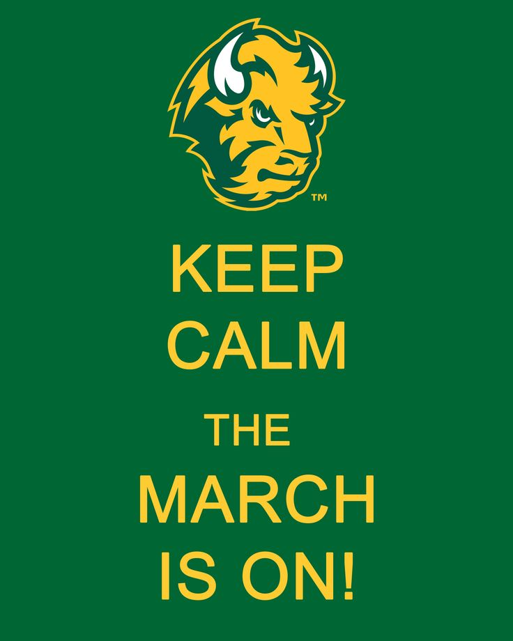 """#NDSU #Bison Keep Calm..The March Is On and things are lookin"""" good, really good. Playing Furman"""