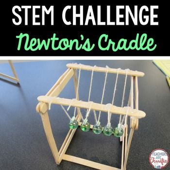 STEM Challenge Build a Newton's Cradle- featuring Newton's