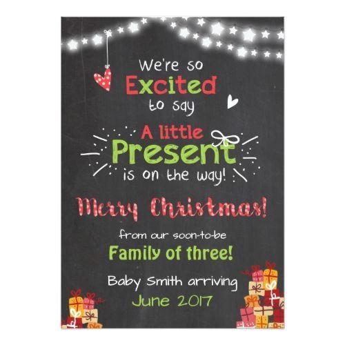 Weihnachtsschwangerschafts-Mitteilungskartentafel – Baby announcements – Schwanger