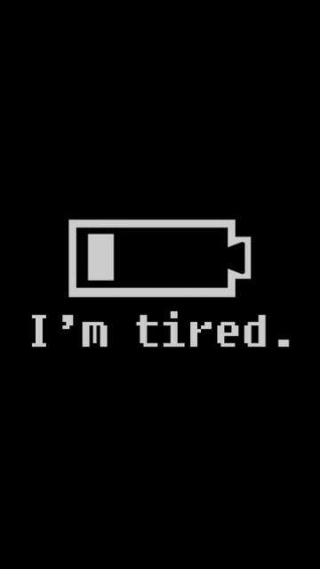 Still at work. Tired.