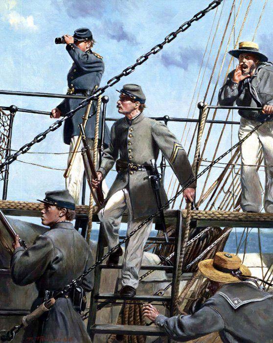 "Infantes de Marina o ""Marines"" confederados. Don Troiani. http://www.elgrancapitan.org/foro/viewtopic.php?f=21&t=11680&p=892047#p892047"