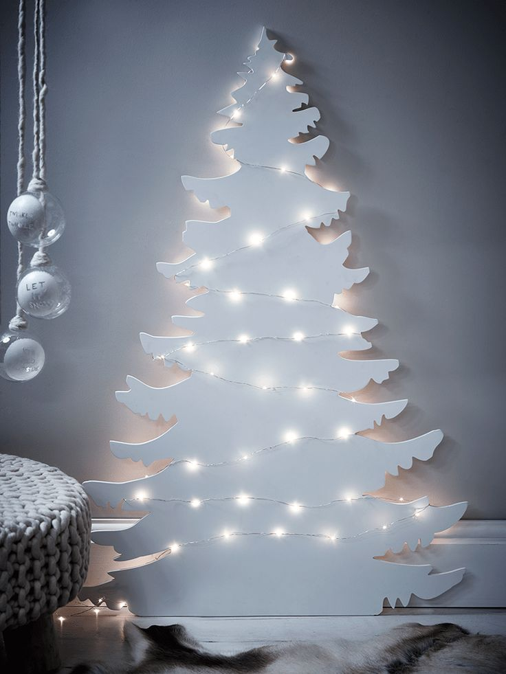 Alternative white contemporary Christmas tree