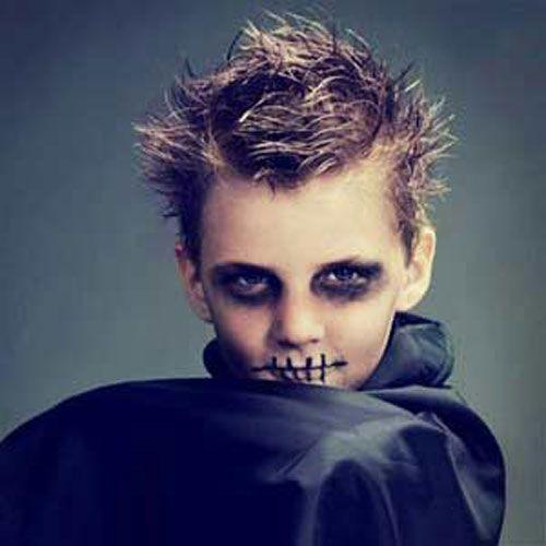 Versione n.8 del trucco da zombie per bambini per Halloween