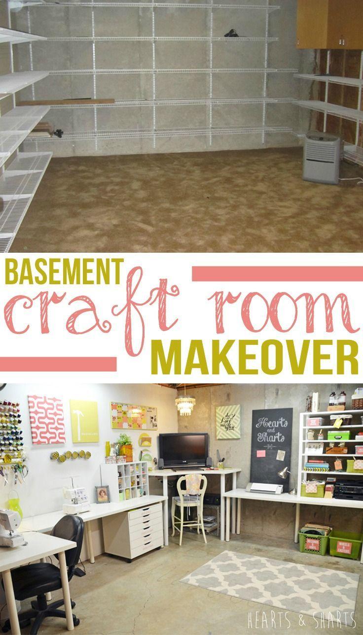 Cheap craft room storage ideas - Craft Room Reveal Basement Storagebasement Ideascraft