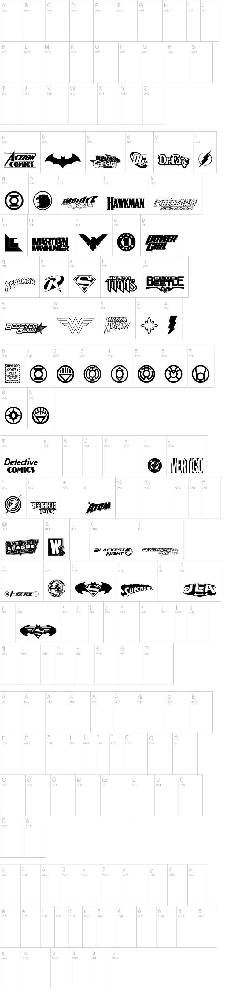 DC Comics: Free superhero logos font  {dafont.com}