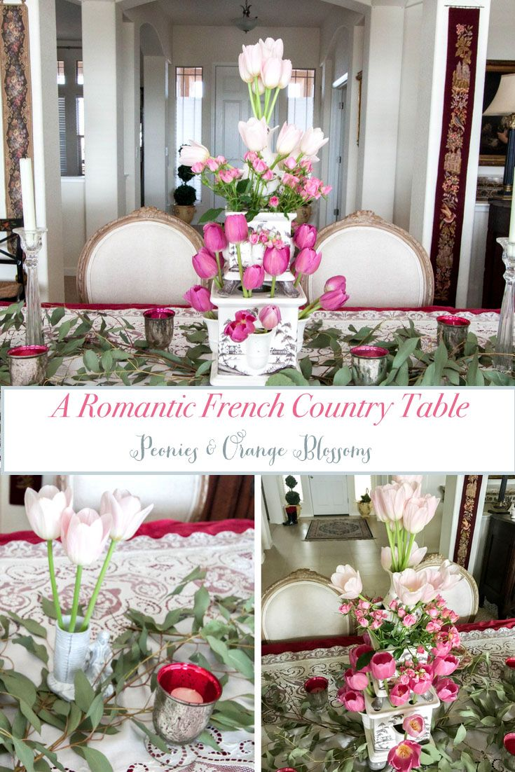 Romantic French Country Pink Tablescape For Valentine S Day Pink Tablescape Valentine Decorations Fun Table Settings