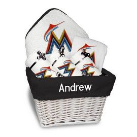 8 best images about miami marlins baby gifts on pinterest big miami marlins medium basket a 6 items miami marlins at personalized gifts for babies and negle Images