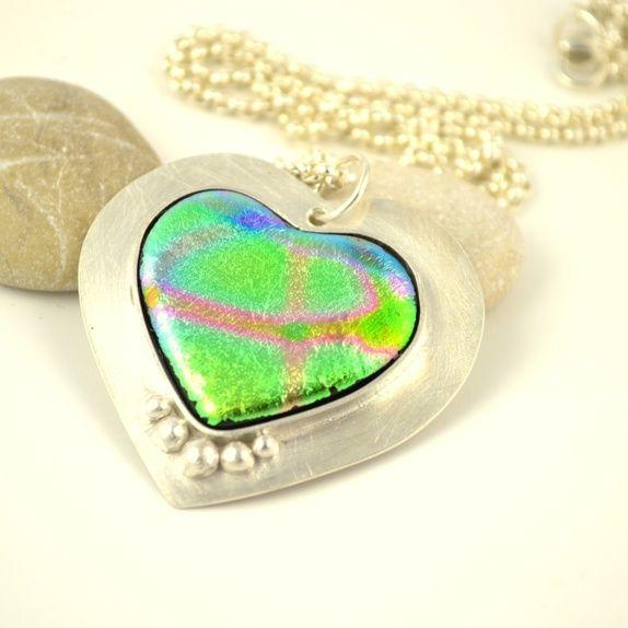 Hjerte i glass og sølv 1