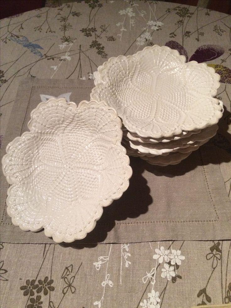 Assiettes ceramique realisees dans mon atelier