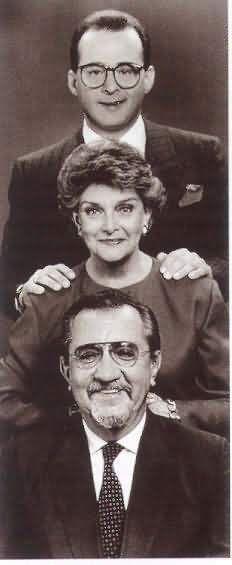 Los tres a las seis Pacheco, Jota Mario y Gloria Valencia de Castaño