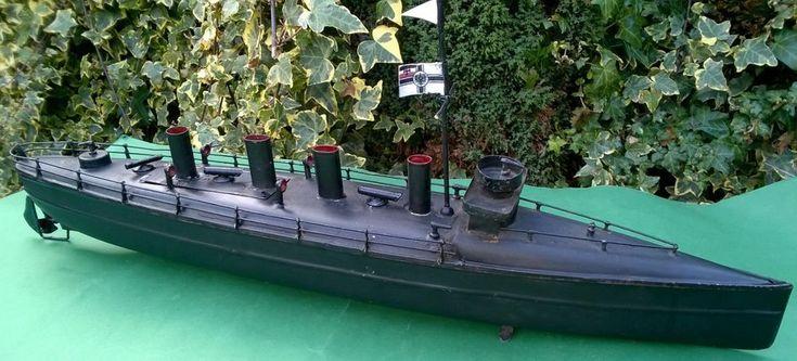 Bing Bassett Lowke 56cm Black clockwork torpedo boat works marklin battleship