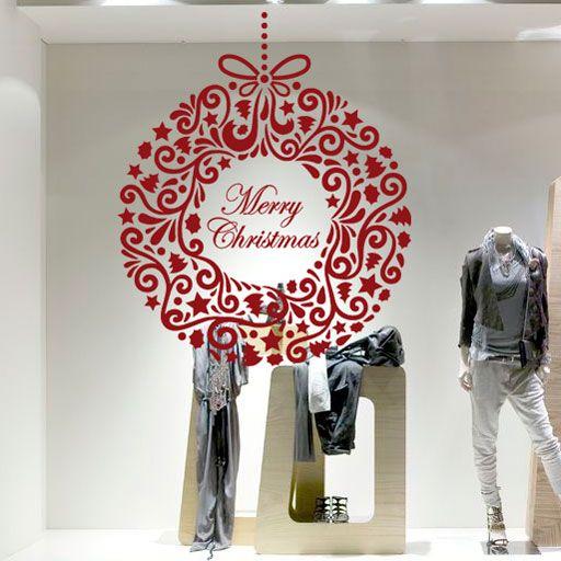 Elegante vinilo decorativo navideño de Merry Christmas, ideal como decoración de Navidad.