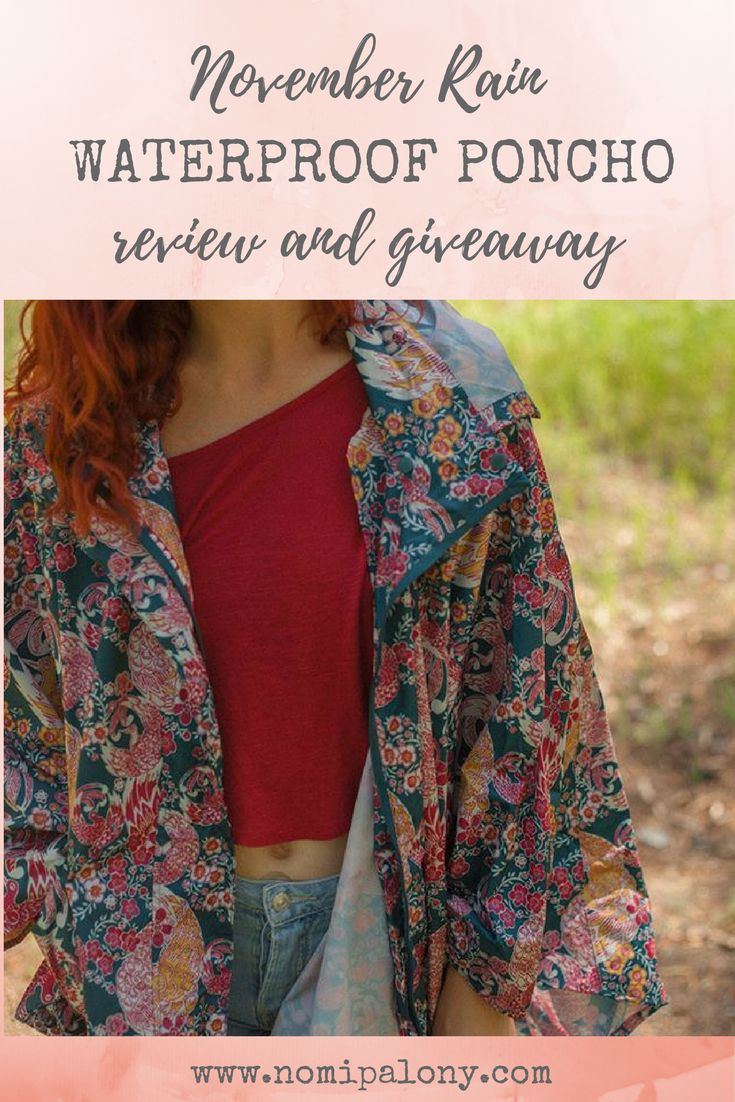 November Rain waterproof poncho review and giveaway