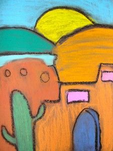 Cultural Diversity/Art Week- Adobe Art (Chalk)