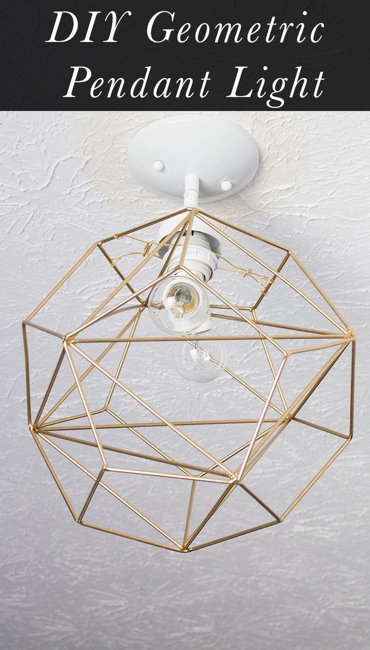 homemade lighting fixtures. DIY Geometric Pendant Light Homemade Lighting Fixtures G