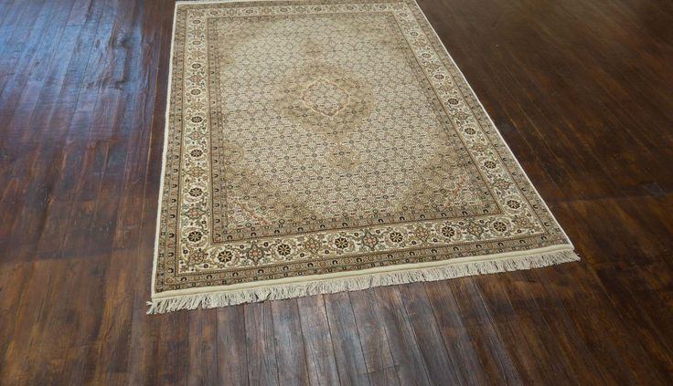 Hand Knotted Mahi Indian Rug from India. Length: 206.0cm by Width: 146.0cm. Only £1713 at https://www.olneyrugs.co.uk/shop/rugs-for-sale/indian-mahi-indian-21880.html    Feast your eyes on our striking array of antique rugs, footstools and Kilim bags at www.olneyrugs.co.uk