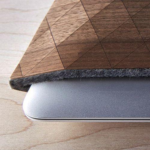 Juxtaposition of Wood Fabric Your Insufferabley Mandatory Macbook Air