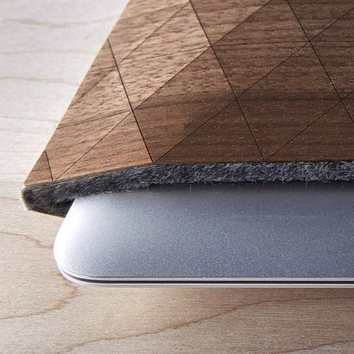 Juxtaposition of Wood Fabric & Your Insufferabley Mandatory  Macbook Air