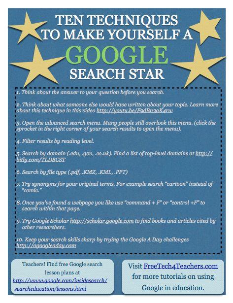 Бесплатные технологии для учителей: 10 советов Google Поиск Все студенты могут использовать