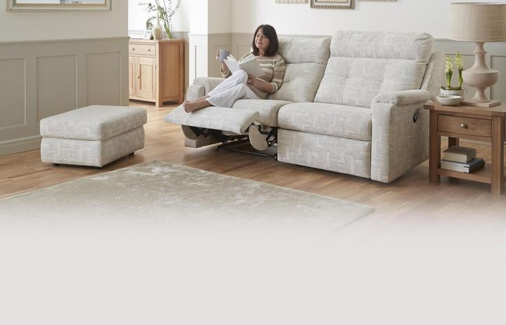 Fabric A 3 Seater Double Manual Recliner Sofa G Plan Fabric A | DFS