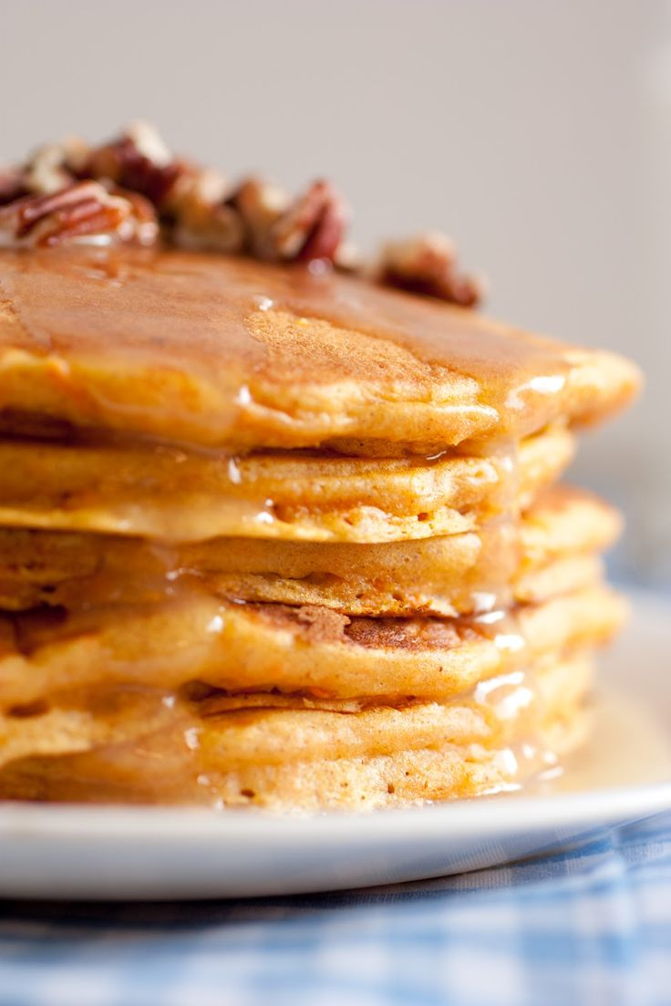 How I love a stack of hot of the griddle, drenched in syrup, fancy pancakes! Here's a recipe you are definitely going to want to add to the weekend morning