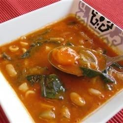 Pasta Fagioli - Tomato sauce, cannelini beans, navy beans and ditalini pasta are seasoned with parsley, basil and oregano in this chunky soup.