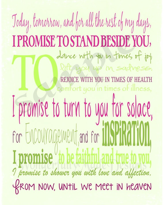 Wedding Vows Subway Wall Art  - Personalized to your wedding colors - Great wedding gift.