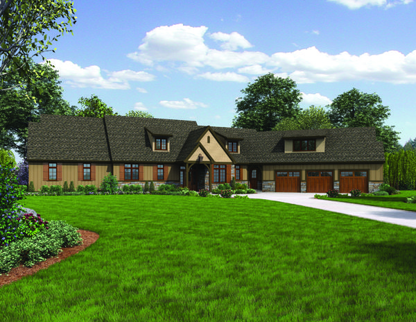Ideal for acreage this home design offers lots of luxury for Transitional house plans