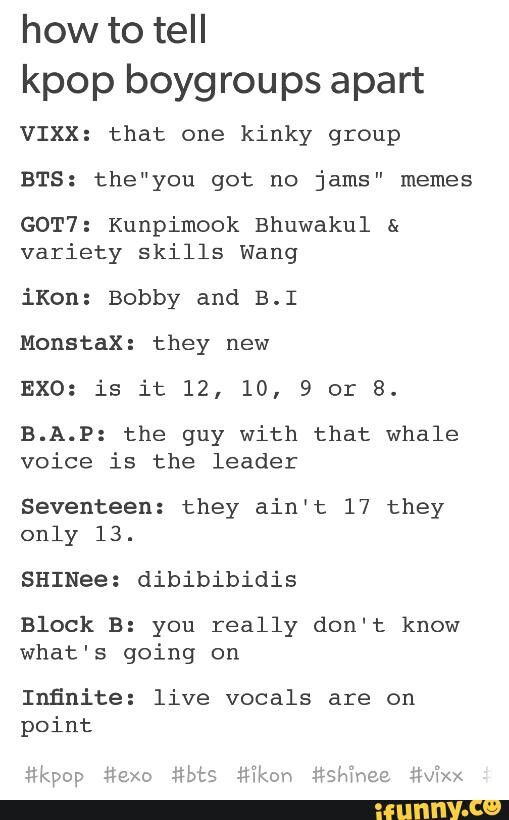 "Lmao. Personally I feel as if Monsta X deserves a better description than ""they new"", caus they be one of my favessss. But still. Funny shit."