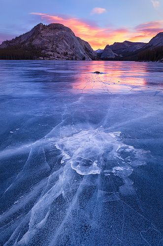 ICE...Emerging - Tenaya Lake, Yosemite National Park, California (by Jim Patterson Photography)