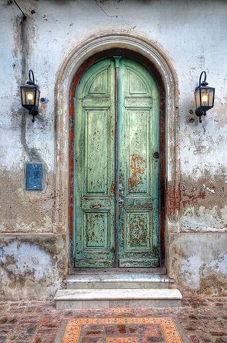 Green Door at San Antonio de Areco, Argentina