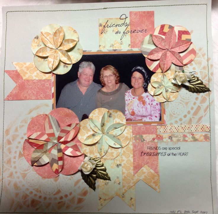 Special Friends.  Love this layout using Kaisercraft paper designed by Leigh Cooper at her Saturday classes.