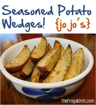 Seasoned Potato Wedges Recipe {Jo Jo's} ~ from TheFrugalGirls.com ~ such a simple, tasty little dinner side! #potatoes #jojos #thefrugalgirls