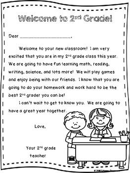 Welcome To 2nd Grade Teacher Welcome Letter 2nd Grade