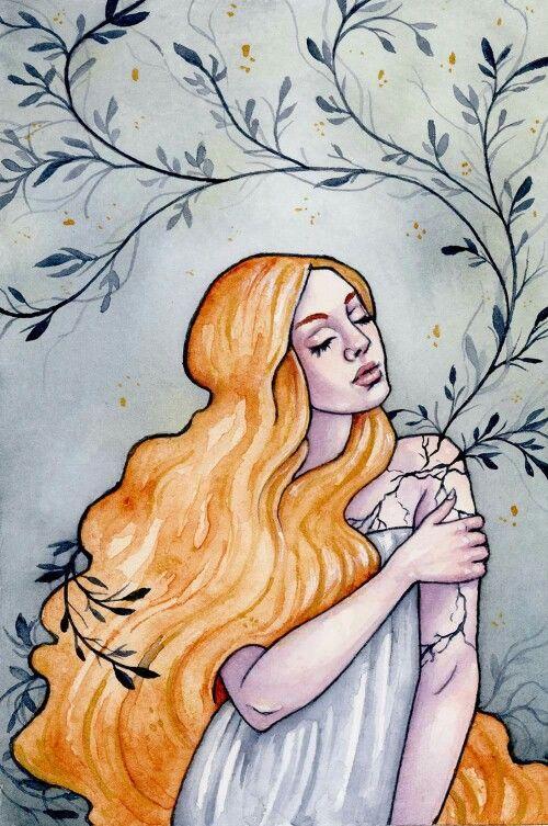 Ellen Wilberg; watercolor and gouache