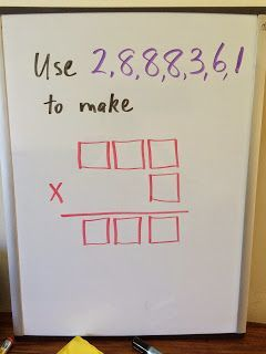 Jumbled Operations game - A great challenge multiplication or other operations!