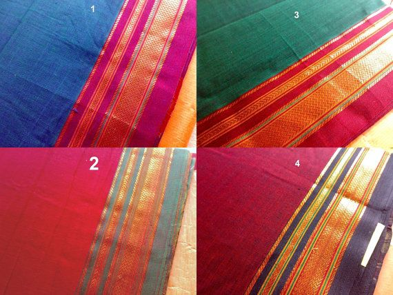 Saree Fabric Magenta Sari Indian Sari Fabric Sheer