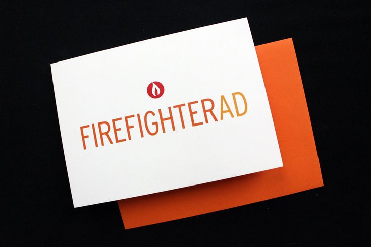 I need a firefighter in my life, just to give them this card. Firefighter Academy Graduation Congratulations Card, via Etsy.