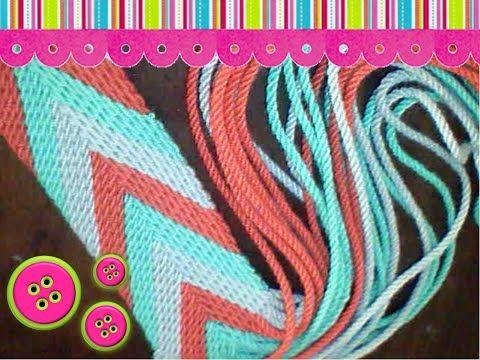 Tutorial #128: Tirantas, Tiras, Fajones o Asas de Mochilas Wayúu | CTejidas [Crochet y Dos Agujas]