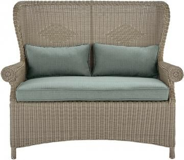 winchester outdoor loveseat outdoor loveseat allweather wicker loveseat wingback loveseat