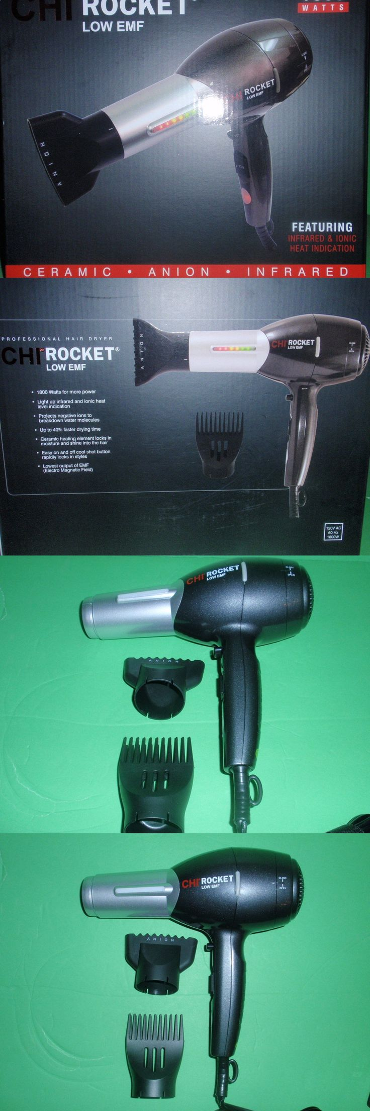 Hair Dryers: Chi Rocket Low Emf Professional Hair Dryer -> BUY IT NOW ONLY: $115.0 on eBay!