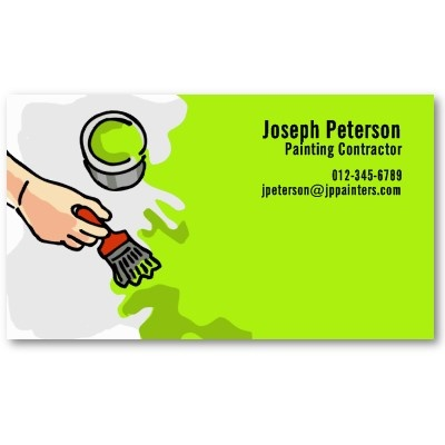 17 best painter business cards images on pinterest business cards painter hand painting green business card colourmoves Image collections