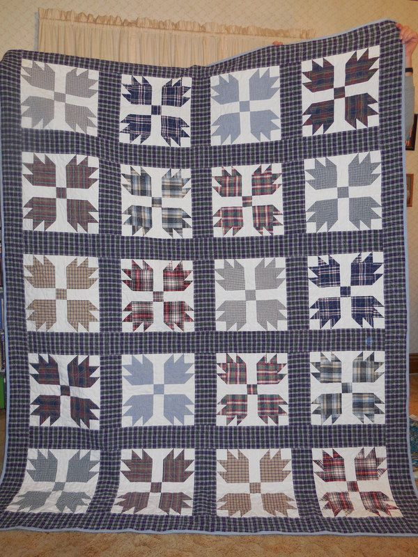"""Ruth Falk: """"I made quilts for each of my brothers from our dad's old shirts after he passed away. """""""