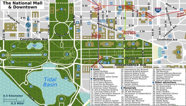 washington dc mall map printable | Description National Mall map.png