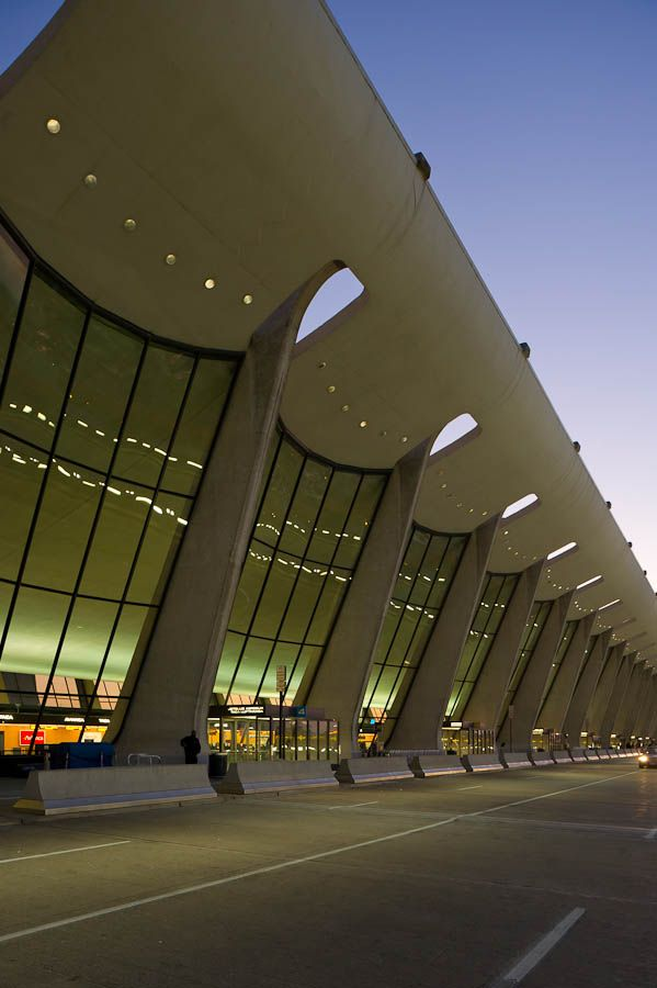 Dulles International Airport, opened 1962  Dulles, VA