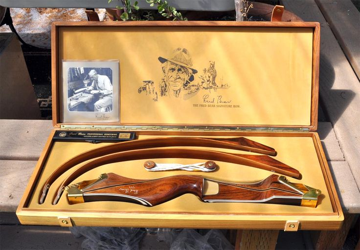 Fred Bear Bow Rare Signed Limited Edition Recurve Gold Take Down