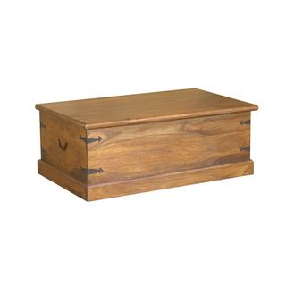 Timbergirl Solid Seesham Wood Trunk Coffee Table (India) By Timbergirl | Wood  Trunk, Trunk Coffee Tables And India