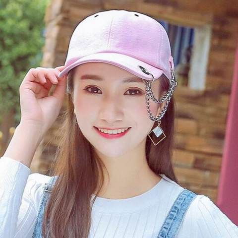 Hip hop chain baseball cap for girls GD same paragraph