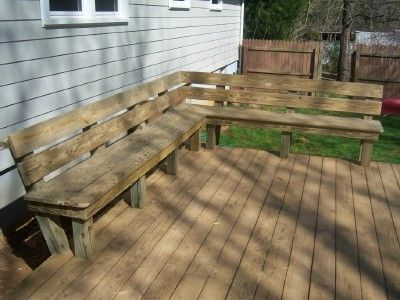 railng bench dock bench decking bench bench bing wood benches deck ...