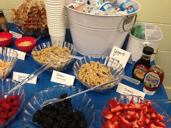 Yogurt Bar for Teacher Appreciation Breakfast